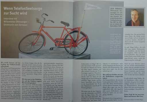 Artikel in tijdschrift Auf Draht augustus 2015